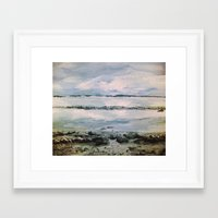 maine Framed Art Prints featuring Maine by Samantha Crepeau