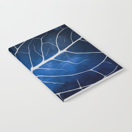 Glowing Grunge Veins Notebook