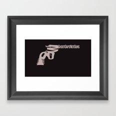 Shoot Gaps, Not Guns Framed Art Print