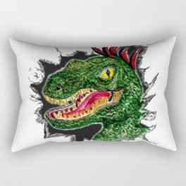 Watercolor velociraptor portrait Rectangular Pillow