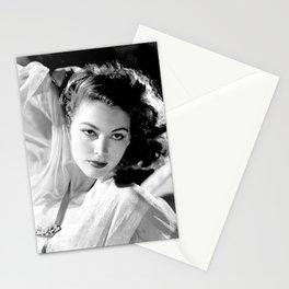 Ava Gardner, Hollywood Starlet black and white photograph / black and white photography Stationery Cards