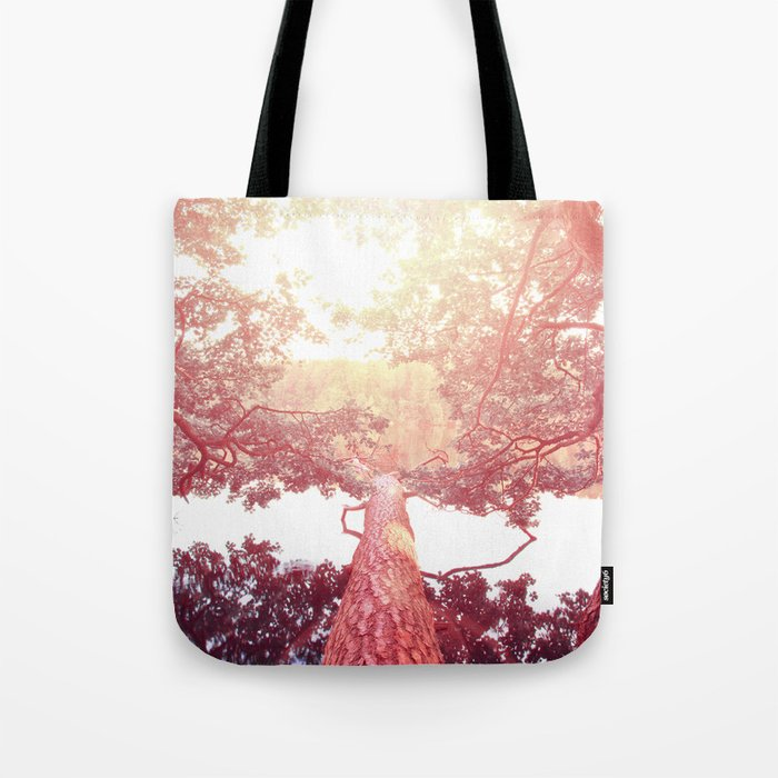 Red woods #trees Tote Bag