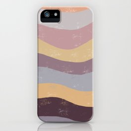 Abstract Waves of Color iPhone Case