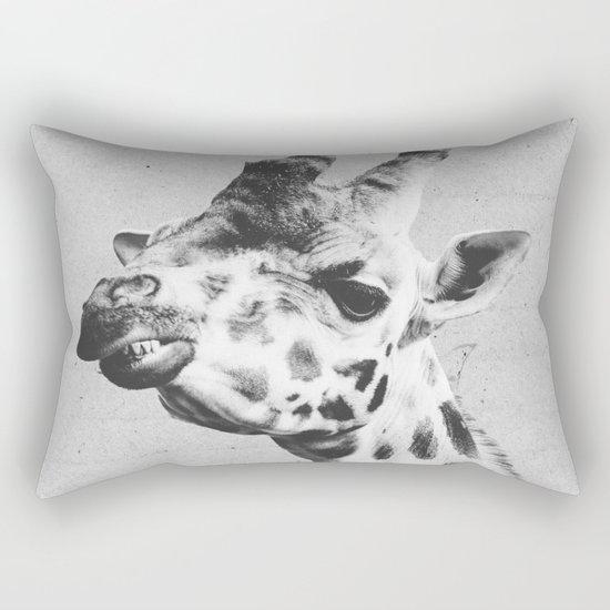 Black and White Giraffe Rectangular Pillow