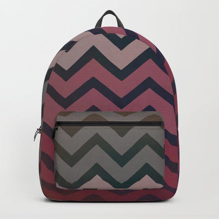 Pink Chevron Backpack