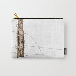 Barbed wire & Fence Post (in the snow) Carry-All Pouch