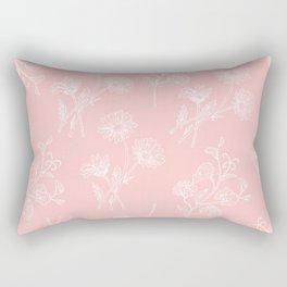 Pink Daisy & Sweet Pea Rectangular Pillow