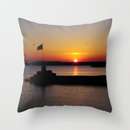 A beautiful sunset view of Lough Neagh Throw Pillow
