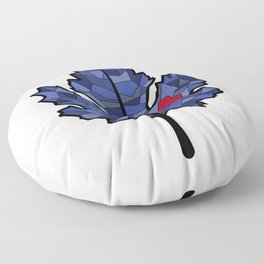 MAPLE LEAF IN BLUE Floor Pillow