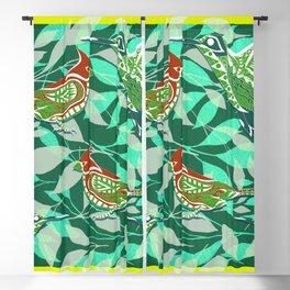 Green Bird lovers ecopop Blackout Curtain