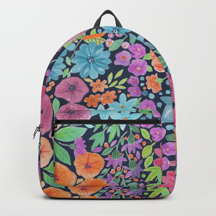 Floral watercolor pattern Backpack