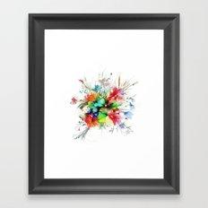 Bouquet of wild flowers Framed Art Print