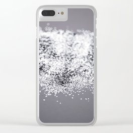Sparkling SILVER Lady Glitter #2 #decor #art #society6 Clear iPhone Case