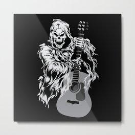 Skeleton Musician Nu Goth Occult Witch Satanism Metal Print