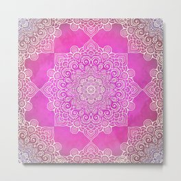 Mandala Floral I Metal Print