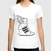 sneaker T-shirts featuring ADIDAS WINGED WEDGE SNEAKER BOOTIE by Bryan Hollingsworth