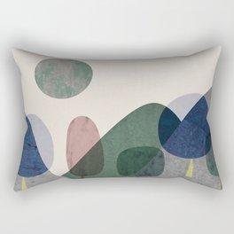 Trees and mountains Rectangular Pillow