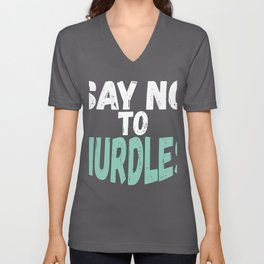 Ocean Lover Say No To Nurdles Environmentalist Gift for Coastal Cleanup Day Unisex V-Neck