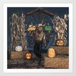 Scarecrow Reaper Art Print