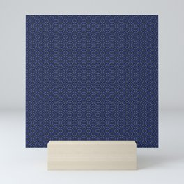 blue gemstone Mini Art Print