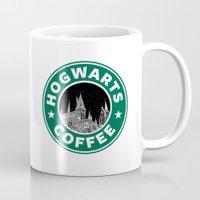 hogwarts Mugs featuring Hogwarts Coffee by Beautiful Bibliophile's Boutique