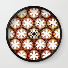 Autumn Flower Octagons Wall Clock