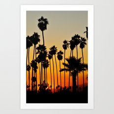 Palms to the Waning Day Art Print