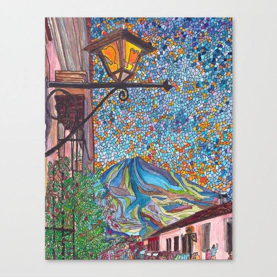 A Lamp in Antigua Canvas Print