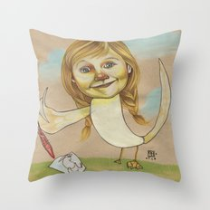 DOODLE GOOSE Throw Pillow