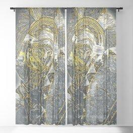 Spartan Hoplite Sheer Curtain