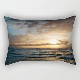 The Pacific Ocean at Sunset // Fort Stevens State Park, Oregon Rectangular Pillow