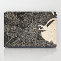 dublin iPad Cases featuring dublin map by NJ-Illustrations