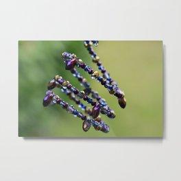 Spiral Beads Jewelry Like DNA Metal Print