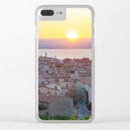 Saint Tropez Sunset Clear iPhone Case