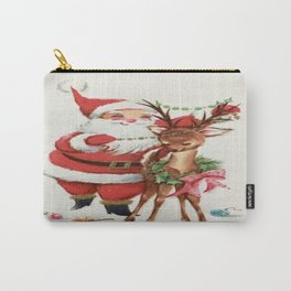 Santa and reindeer Carry-All Pouch