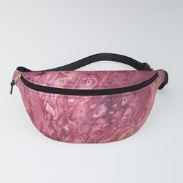 Mayhem - Abstract Pink Purple Magenta Mauve Fluid Art (Acrylic on Canvas) Fanny Pack