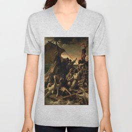 Gericault – Le radeau de la méduse – the raft of the medusa – La balsa de la medusa Unisex V-Neck