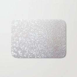 Silver ice - glitter effect- Luxury design Bath Mat