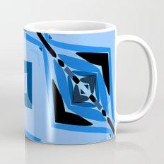 Black and Blue Diamond abstract Mug