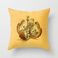 Steampunk Orange Throw Pillow