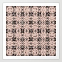 Pale Dogwood Floral Geometric Art Print