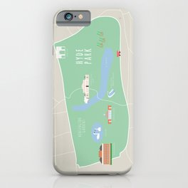 London, England, UK | Hyde Park, Kensington Gardens Map iPhone Case