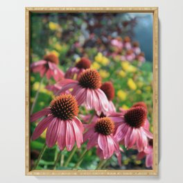 Coneflowers and Tickseed Serving Tray