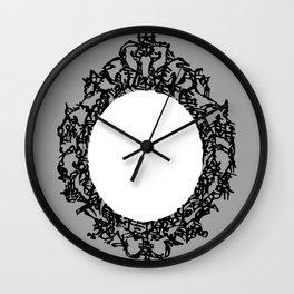 Kanji Calligraphy Art :a decorative mirror Wall Clock