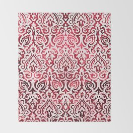 Dark pink baroque Throw Blanket