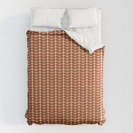 Mid Century Danish Leaves, Rust Brown and Beige Comforters