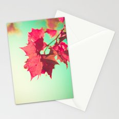 Red Maple Leafs Stationery Cards