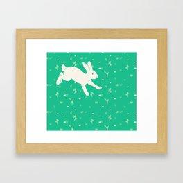 Running Bunny Framed Art Print