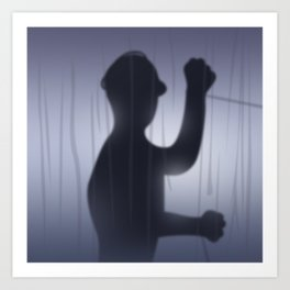 If you're Home Alone, showering... Art Print