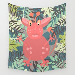 Happy Go Lucky Monster Wall Tapestry